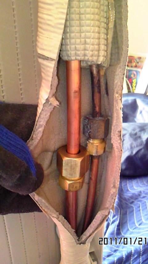 ガス漏れ修理